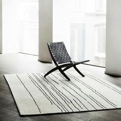 Carl Hansen Cuba Chair by Morten Gottler with Woodlines Rug by Naja Utzon Popov
