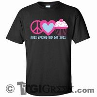 TGI Greek Tshirt - Alpha Omicron Pi - Bid Day Shirt