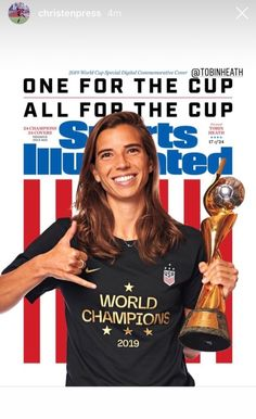 Tobin Heath Sports Illustrated Commemorative Digital cover celebrating the USWNT 2019 World Cup champions, July Usa Soccer Team, Team Usa, Soccer Players, Nike Soccer, Soccer Cleats, Basketball, Alex Morgan Soccer, Tobin Heath, Fifa Women's World Cup