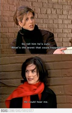 So..I feel like we have had our own versions of this conversation..and I am always Monica. @Aubrey Godden Sneed