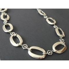 Chunky Oval Chains Necklace in the Jewellery Designs category was sold for on 10 Dec at by yellowsubmarine in Kleinmond Designer Jewellery, Jewelry Design, Chains, Personalized Items, Bracelets, Silver, Stuff To Buy, Bangles, Chain