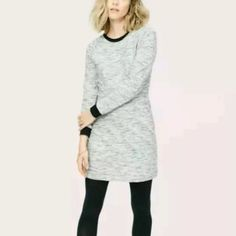 Lou & Grey Space Dye Sweatshirt Dress NWT LOFT Lou & Grey Space Dye Sweatshirt Dress. IN LOVE with this dress, it just doesn't look good on me . Classic and trendy for Fall/Winter! Exposed zipper detail in back! True to size! Open to offers! LOFT Dresses Long Sleeve
