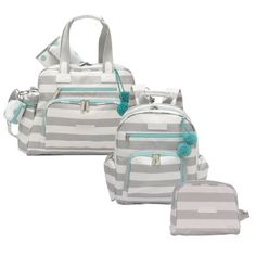 Kit-com-3-Bolsas---Everyday---Noah---Necessaire---Candy-Colors-Verde---Masterbag Baby Girl Diaper Bags, Baby Girl Newborn, Baby Kids, Baby Boy, Backpack Purse, Kids And Parenting, New Baby Products, Travel, Clothes