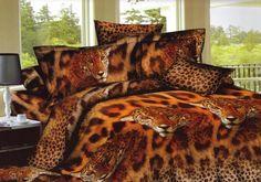 Realistyczna pościel w kolorze brązowym w tygrysy