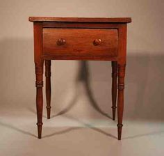 Walnut Tennessee One Drawer Table ca. Provenance: Descended in the family of Charles Sherral of Norene , Tennessee. Country Living Decor, Cottage Style Decor, Early American Furniture, Colonial Furniture, Wooden Cupboard, Furniture Accessories, Southern Furniture, Victorian Home Decor, Primitive Furniture