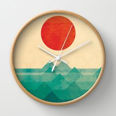 BUY: http://society6.com/product/the-ocean-the-sea-the-wave_wall-clock?curator=4thecrime  The ocean, the sea, the wave
