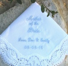 LACE WEDDING HANDKERCHIEF Mother of the by FlipFlopsforAllShop