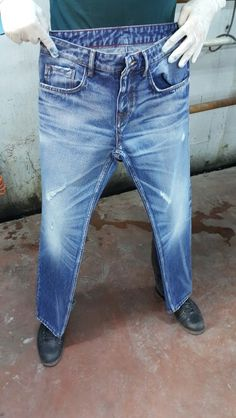 Men's Denim, Raw Denim, Blue Denim, Blue Jeans, Denim Fashion, Boy Fashion, Azul Indigo, Estilo Jeans, Striped Jeans