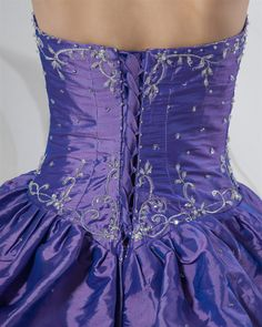 osell wholesale dropship Charming Taffeta Ball Gown Sweetheart Beading Embroidery Prom Dresses $111.20