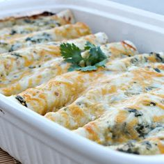 Avocado Chicken Enchiladas - Six Sisters @keyingredient #cheese #delicious #recipes #easy #chicken #meals