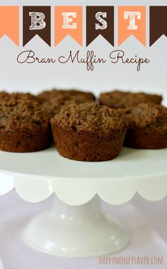 At only 126 calories each, these bran muffins really are the best! Using ingredients like simmered and pureed raisins, honey, molasses, and coconut oil make these muffins moist, flavorful and healthy!