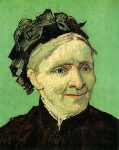 Portrait of Artist's Mother 1888. He made this painting of his mother, Anna Carbentus van Gogh from a black-and-white photograph. Van Gogh's initial introduction to art was through his mother, an amateur artist. After years of strained relationship with family members, Van Gogh excitedly shared some of his works his mother would cherish most, those of flowers and natural settings. In this painting of his mother, Van Gogh captures her dignified, proud nature.