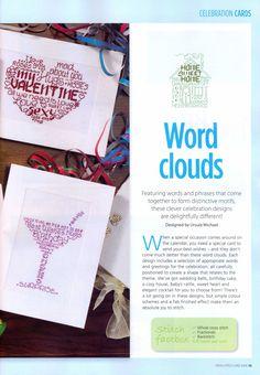 Word Cloud Celebration Cards 2/6
