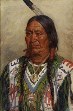 Native American Joseph Henry Sharp Chief American Horse by griffinlb, via Flickr