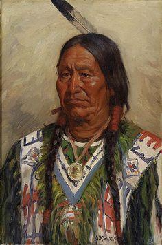 Native American Joseph Henry Sharp Chief American Horse