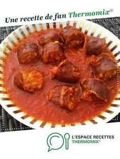 Rougail saucisses par tommy13. Une recette de fan à retrouver dans la catégorie Viandes sur www.espace-recettes.fr, de Thermomix®.