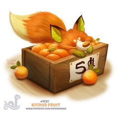 Daily Painting 1727# Kitrus FruitFor full res WIPs, art, videos and more: https://www.patreon.com/piperdraws Twitter • Facebook • Instagram • DeviantART