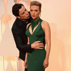 Pin for Later: 25 Oscars Moments Everyone's Still Talking About John Travolta Got Kind of Weird With Scarlett Johansson