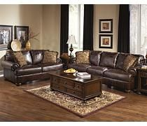 Axiom - Walnut Oversized Chair, sofa, loveseat at Ashley Furniture