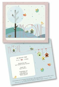 Een winters geboortekaartje voor Mone! www.loekadoe.com