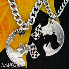 Racing flag Necklaces For Couples or Best Friends, interlocking hand cut quarter Sprint Car Racing, Dirt Track Racing, 2017 Acura Nsx, Racing Tattoos, Japanese Sports Cars, Race Party, Dual Clutch Transmission, Baby Tattoos, Cars