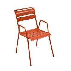 Fauteuil de jardin en acier FERMOB orange Orange - Monceau - Les fauteuils de jardin - Les tables et chaises - Jardin - Décoration d'intérieur - Alinéa