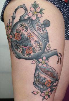 I love tea pot tattoos!