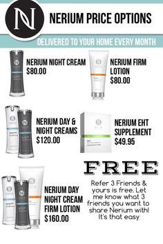 Nerium #Nerium NeriumAD Night Cream, Nerium Day Cream, Nerium Firm, EHT #NeriumAD #NeriumEHT Order yours today www.katiebackerman.nerium.com