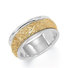 ArtCarved Two-Tone Carved Band
