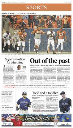 Sunday, August 4, 2013 Denver Post sports cover.