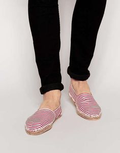 ASOS   Canvas Espadrilles With Red and White Stripe #Asos #espadrilles