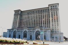 abandoned railroad station in Detroit