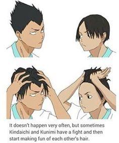 Thank god Haruichi Furudate didn't swap their hair styles in the creation period xD