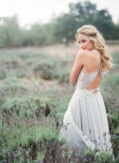 This lavender field inspiration shoot is bursting with pretty: http://www.stylemepretty.com/vault/gallery/37833 | Photography: Jennifer Kulakowski - http://jenniferkulakowski.com/