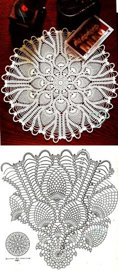 Round Pineapple Doily Diagram crochet pattern. More Patterns Like This!