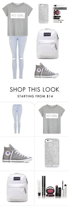 """Set #188"" by lgs5 ❤ liked on Polyvore featuring Topshop, MANGO, Converse, JanSport and Bobbi Brown Cosmetics"