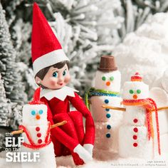 Frosty Marshmallow Friends! | Elf on the Shelf Ideas