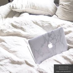 A chic adornment for your macbook - our gorgeous vinyl marble skin will enhance your everyday aesthetics effortlessly. Free shipping worldwide available. Shop with us at wandererwanderer.com #marblemyapple