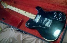 Vintage 1975 Fender Telecaster Custom w/ original hardshell case Fender Telecaster Black, Telecaster Custom, Fender Guitars, Vintage Electric Guitars, The Originals