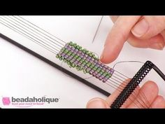 Videos: How to Add a Beaded Edge to Loom Work | Beadaholique