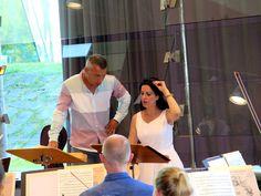 Angela Gheorghiu en ensayo, Regensburg. Hofer Simphonyker Orchestra (julio 2014)
