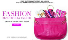 AVON Free 7 Piece Gift with your $75 Purchase and FREE SHIPPING!  Order at www.youravon.com/mkeller0001