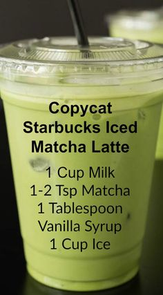 Copycat Starbucks Iced Matcha Latte ~ This copycat recipe shows you how to make your own Starbucks Iced Matcha Latte at home with just three ingredients.<br> Save money by making this copycat Iced Matcha Latte recipe that tastes exactly like Starbucks! Smoothie Drinks, Healthy Smoothies, Healthy Drinks, Matcha Smoothie, Matcha Drink, Healthy Food, Nutrition Drinks, Matcha Dessert, Smoothie Cleanse