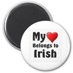 Shop My heart Belongs to Irish Magnet created by Parleremo. Polish Language, Round Magnets, Refrigerator Magnets, Paper Cover, My Heart, Irish, Languages, Cool Stuff, Goodies