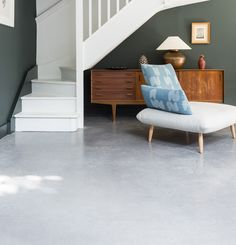 Polished Concrete Floor Lazenby S Iron Grey Features In 42m2 Of The Open Plan