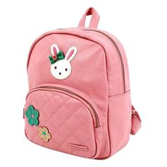 VonFon Bag Work Place Bunny Kids Backpack Red - Click image twice for more info - See a larger selection of red  backpacks at http://kidsbackpackstore.com/product-category/red-backpacks/. - kids, juniors, back to school, kids fashion ideas, teens fashion ideas, school supplies, backpack, bag , teenagers girls , gift ideas, red