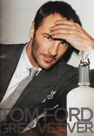 Tom Ford Grey Vetiver for Men. The relaxed but elegant visual doesn't do the fragrance any justice. It's a lot more of enticing, chic and modern man's fragrance than the visual suggests. However, Tom Ford himself featuring in the ad makes up for it....tempting us with his stare and cheeky smile.