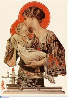 Christmas illustration of Joseph Christian Leyendecker