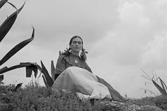 Frida Kahlo Under Cloudy Sky with Agave Latina by EclecticForest