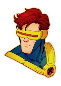 Cyclops/Scott Summers - X-Men by Amelia Vidal Marvel Comics Art, Marvel Comic Universe, Comics Universe, Marvel Cyclops, Wolverine, Comic Character, Character Design, Comic Face, Marvel Animation